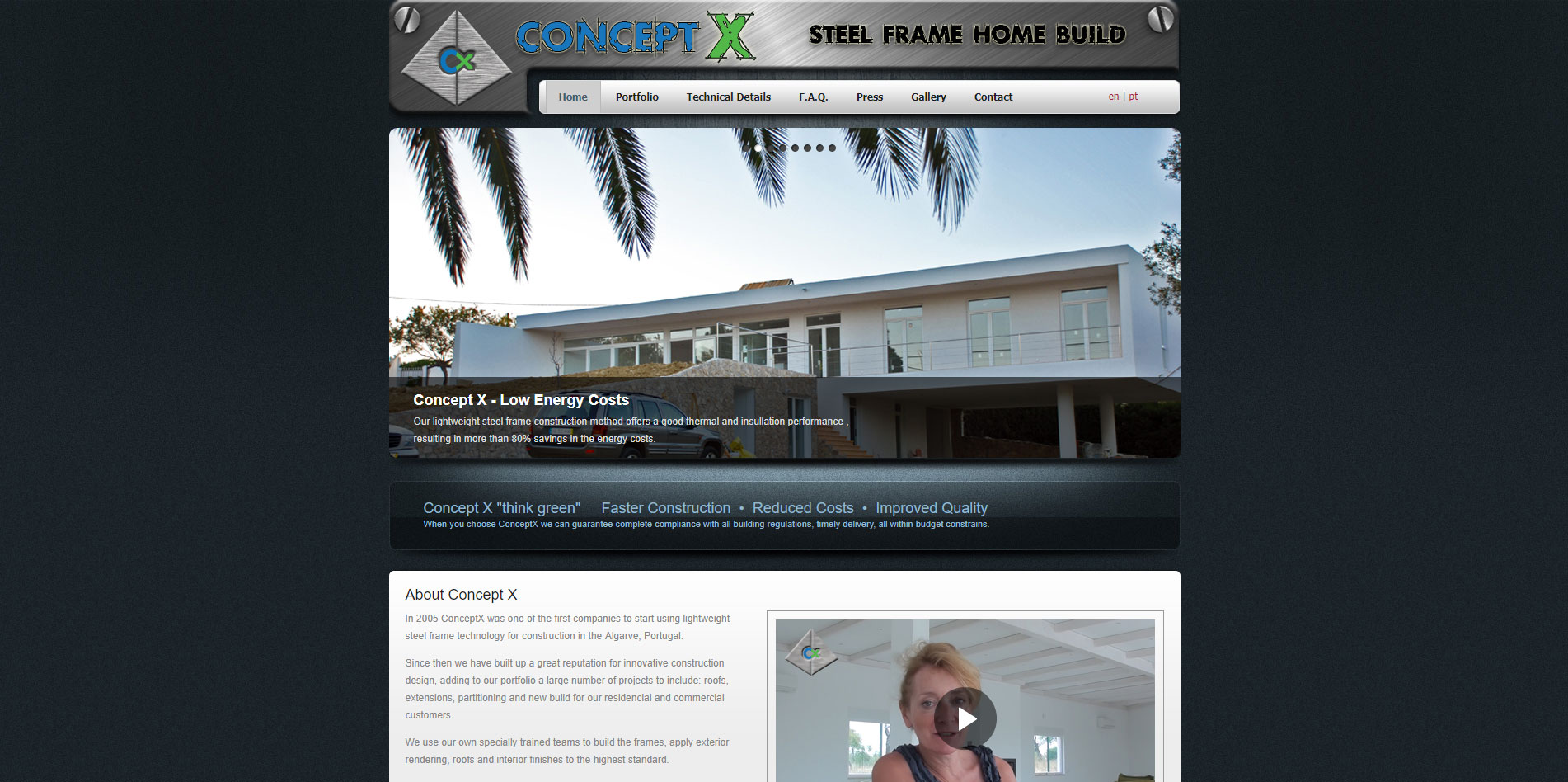 Conceptx website homepage