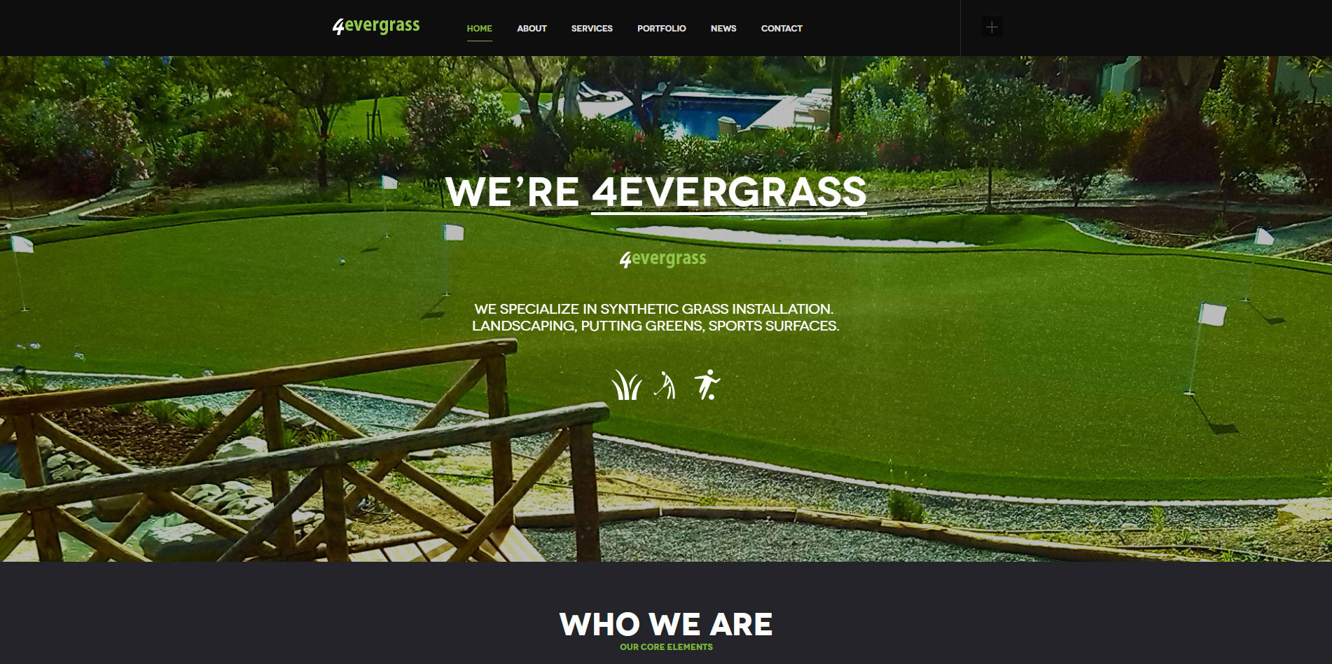 4evergrass website - homepage
