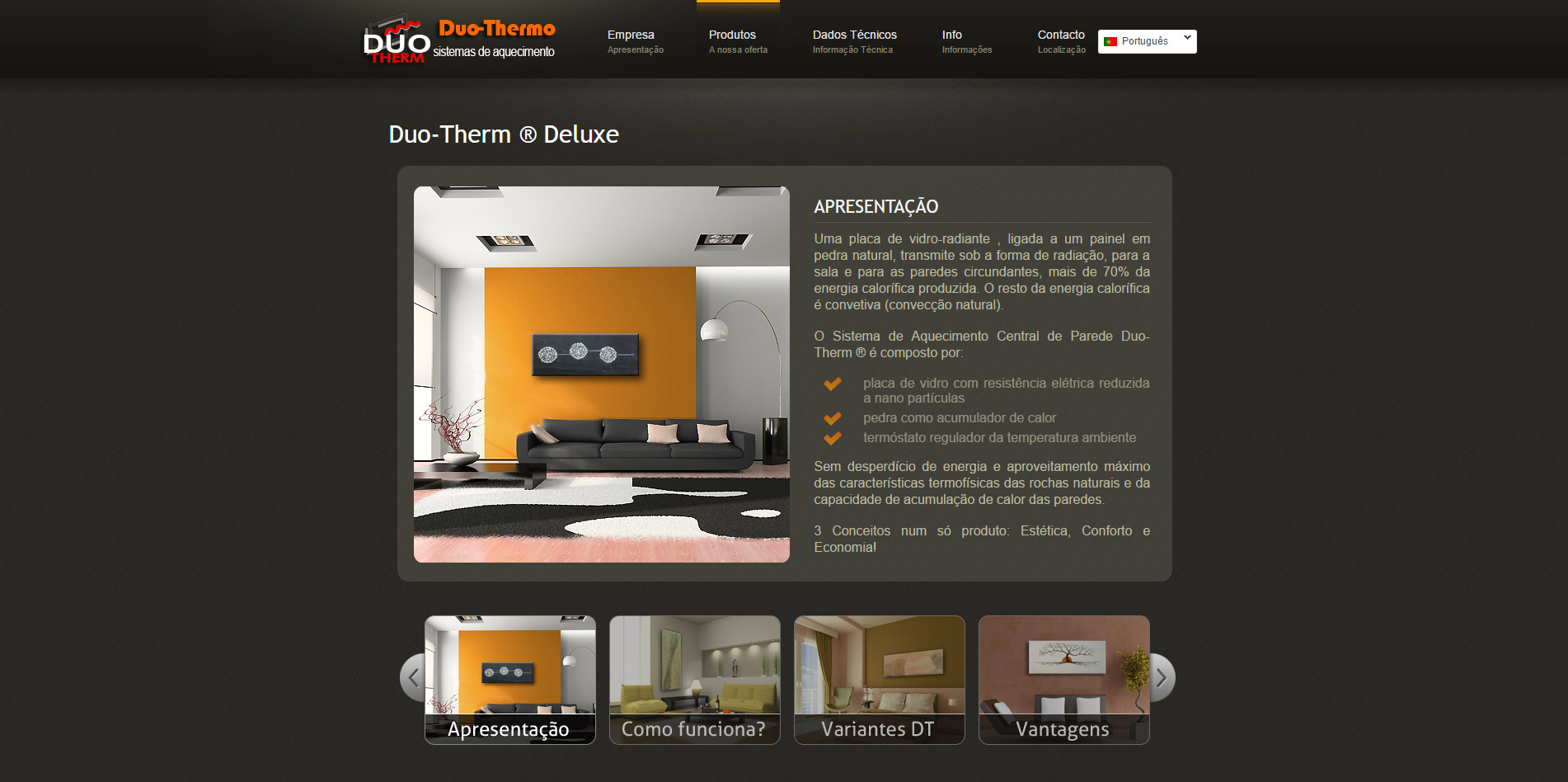 website design and development for DT Algarve