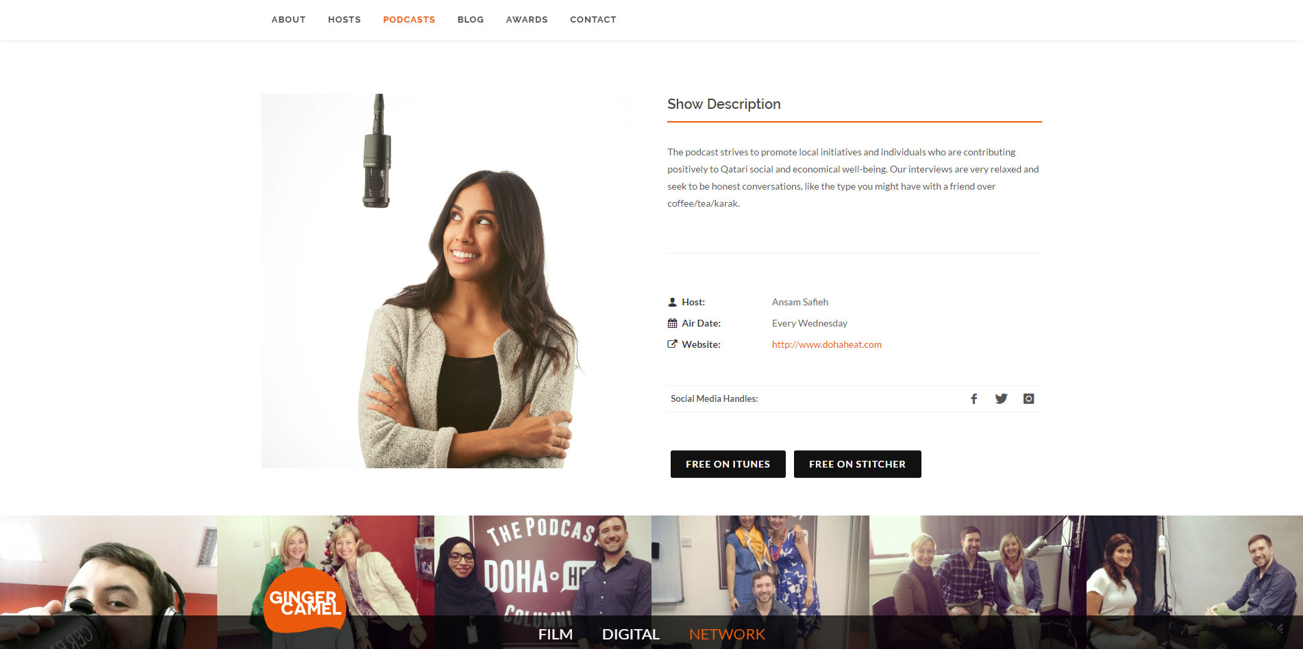 content page website