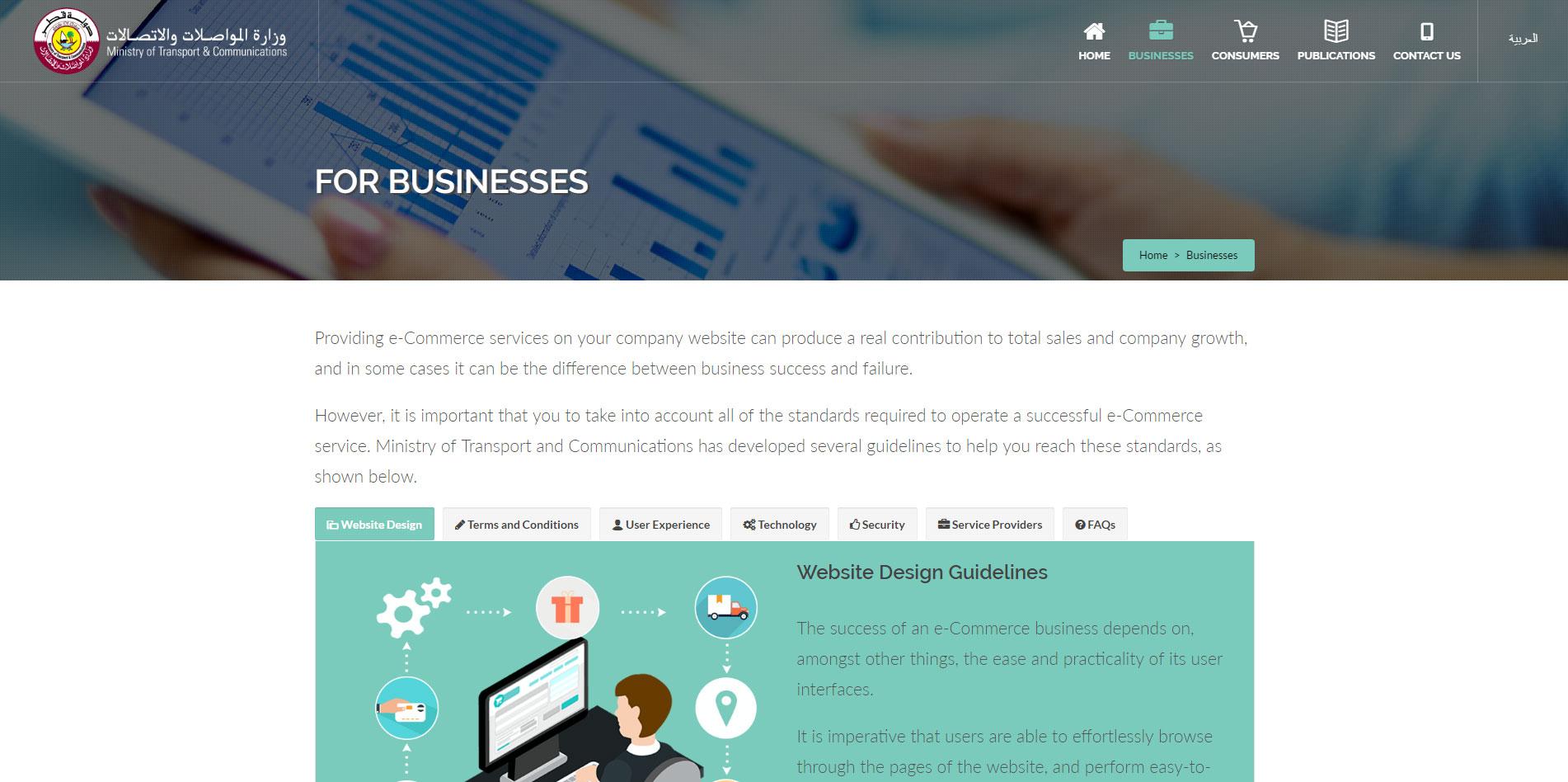content page design